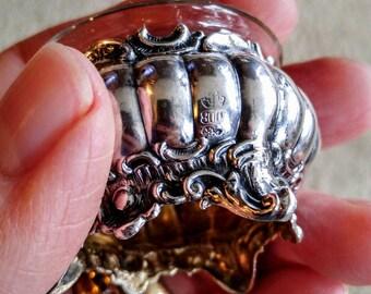Martin Mayer Salt Cellar 800 Silver Salt Cellar NBJ816 German Silver Vintage Silver Antique Silver