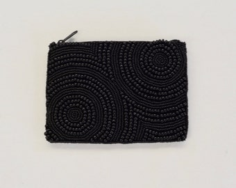 Spiral Beaded Coin Purse (Firm)