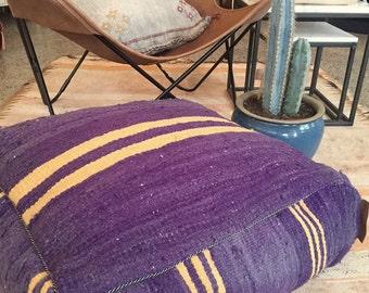 Sale ! Handmade and unique kilim,kelim Moroccan pouf,poef,osmane,puff,ottoman,foot stool,floorpillow