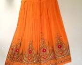 T Bohemian Skirt , Boho Skirt , Bohemian Clothing ,Gypsy Skirt, Short skirt, Midi skirt