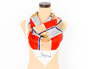 Schiaparelli Colorful Silk Scarf