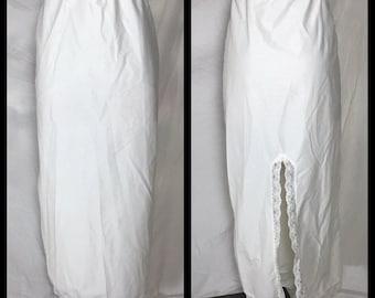 Kayser White Non Stretch Nylon Half Slip - Size Large