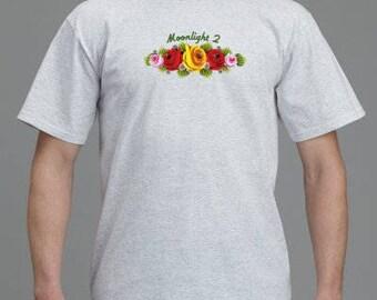 Personalised Narrowboat Canal Art Rose Printed T-Shirt
