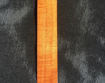 Handcrafted Hawaiian Curly  Koa Wood Bookmark Made In Hawaii