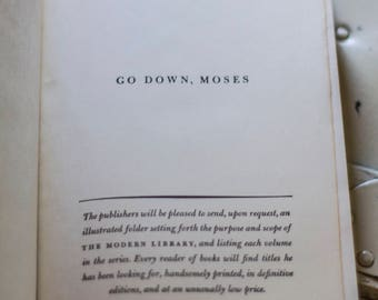 Go Down, Moses by William Faulkner 1940s Hardcover