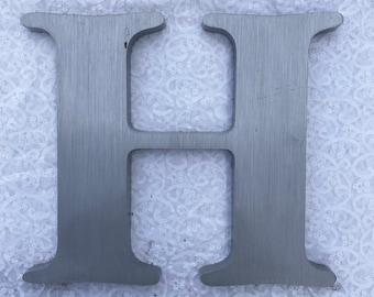 """H 12"""" metal sign letter"""