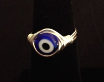 Turkish Glass Evil Eye Ring Protection Symbol Spiritual Jewelry