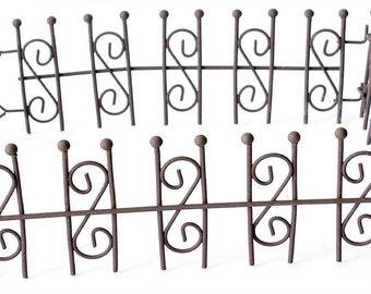 Fairy Garden  - Woodland Iron Fencing - Miniature