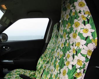 Front Car Seat Covers Me-Mo Spring Daffodils Front Car Seat Covers