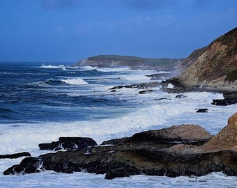 Northern Califorina Cosat, Rough Sea, Pacific Ocian, Photography, Color Photography