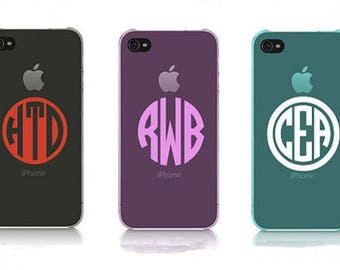 """2"""" iPhone / Android Monogram Decal - Cell phone Sticker"""