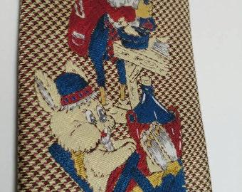 Vintage wool Christmas tie