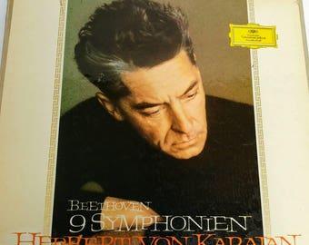9 Symphonies Beethoven by Karajan LP set