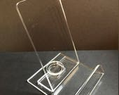 Acrylic Phone Stand, Cell Phone Stand, Docking Station, 2 Piece Phone Stand, Mother's Day, Father's Day, Graduation,