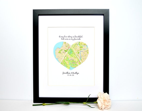 Wedding Gift for Long Distance Couple Unique Wedding Gift