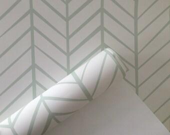Wallpaper, Removable Wallpaper, Herringbone wallpaper, Mint wallpaper, Herringbone, Peel and stick wallpaper, Repositionable wallpaper