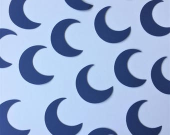 Moon Confetti, Crescent Moon Die Cuts, Paper Moons