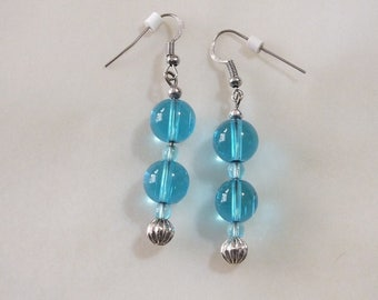 Blue Beads and Silver