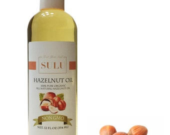 Organic Cold Pressed Hazelnut oil 100% pure natural from 4 oz up to 7 lbs