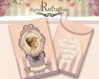 fragrance sachet/ Digital Collage Sheet / Instant Download/flowers/ printables/ pastel pink