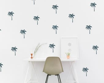 Mini Palm Tree Wall Decal // Tropical Decor / Bedroom Wall Decals /  Tropical Office Part 80