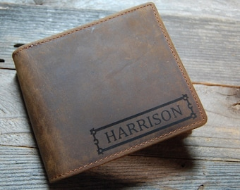 Men's leather wallet, leather wallet, Personalized leather wallet, cowhide leather, cowhide leather wallet