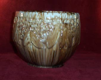 McCoy Jardiniere Pot Planter Majolica Blended Glaze