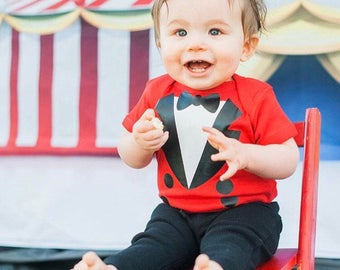 Circus Ringmaster Onesie-Baby-Toddler-Tee-Birthday-Costume
