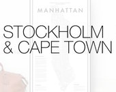 Stockholm, Cape Town - custom map posters