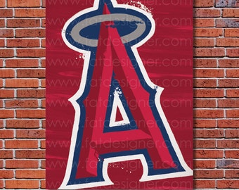 Los Angeles Angels of Anaheim Graffiti- Art Print - Perfect for Mancave