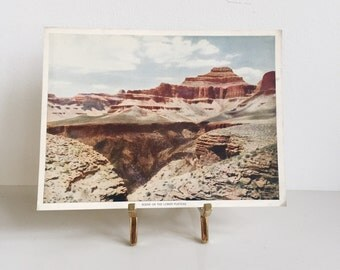 Vintage Lithograph // Grand Canyon // The Lower Plateau