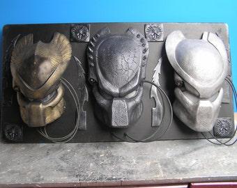 Predator mask wall diorama display plaque