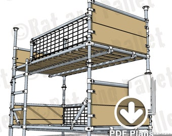Make Scaffold Bunks from Instruction Plans. Modern Industrial, Loft Style Bunk Bed Idea for Kids / Teenage Bedroom. Separates to Single Beds