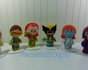 X-Men-felt-handmade-birthday-gift-party-decor-room-adults-Marvel-mutants-children's decor-kids