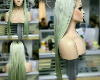 """Green wig, 1b/Mint Green Wig, Straight Hair, Colored Wigs 22"""""""