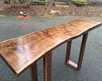 SOLD - Live Edge Black Walnut Entry Table