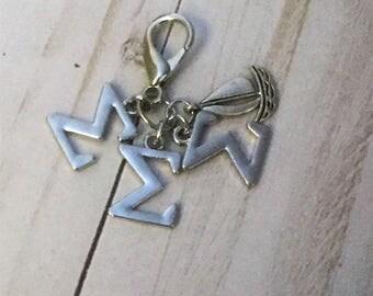 Sigma Sigma Sigma Sailboat Sorority Keychain