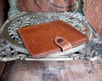 Calf Leather Wallet, Brown Leather Wallet, Mens Wallet, Leather Wallet, Vintage Wallet, Made In England, Vintage Leather Wallet, Mens Gift