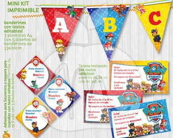Printable and editable texts PAW PATROL kit for your party! Instant download!