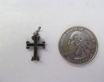 Vintage Sterling Silver Cross Charm