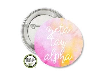 Zeta Tau Alpha Pin Back Button, Pin Back, Greek Button, Sorority gift, Big Little Gift, Zeta Tau Alpha Gift, ZTA