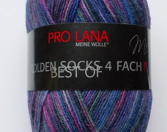 sock yarn 100g (6,-Euro/100g), purple patterned, 4ply (931)