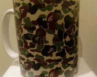 Custom Printed bape Camoflauge camo Mug / Mugs perfect for a gift Kitchen Office Studio Cup