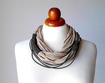 African necklace scarf chunky jewelry african jewelry boho long necklace african clothing tribal necklace knitted necklace ethnic necklace