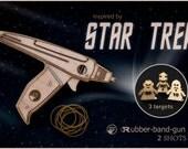 Men's Birthday Gift. Wooden Rubber Band Gun Inspired By Star Trek Phaser. Geekery Gift For Husband Boyfriend Or Son.  Gift For Him, Geek Dad