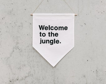 Size XL - Welcome to the jungle - Extra Large Wall Banner (customizable!)