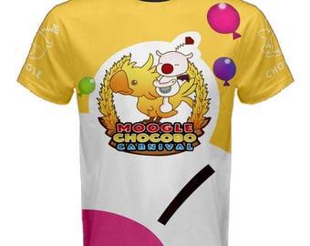 Moogle Chocobo Carnival FF15 T-Shirt. High Quality Accurate Replica Tee.