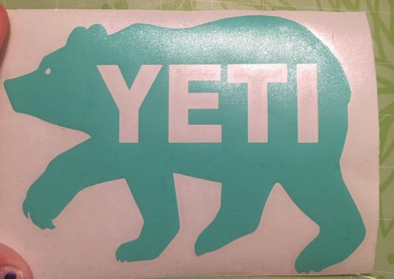 Yeti Bear Vinyl Decal