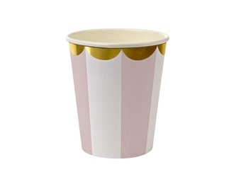 Pink Stripe Party Cup  l  Toot Sweet Pink Stripe Party Cup  l  Pink Party Ware  l  Pink Stripe Cup  l  Party Box  l  Party Cups