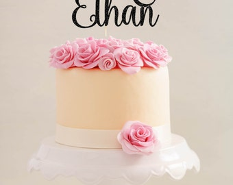 Personalized Wedding Cake Topper, Engagement Cake Topper, Glitter Wedding Cake Topper, Bridal Shower Cake Topper, Name Cake Topper